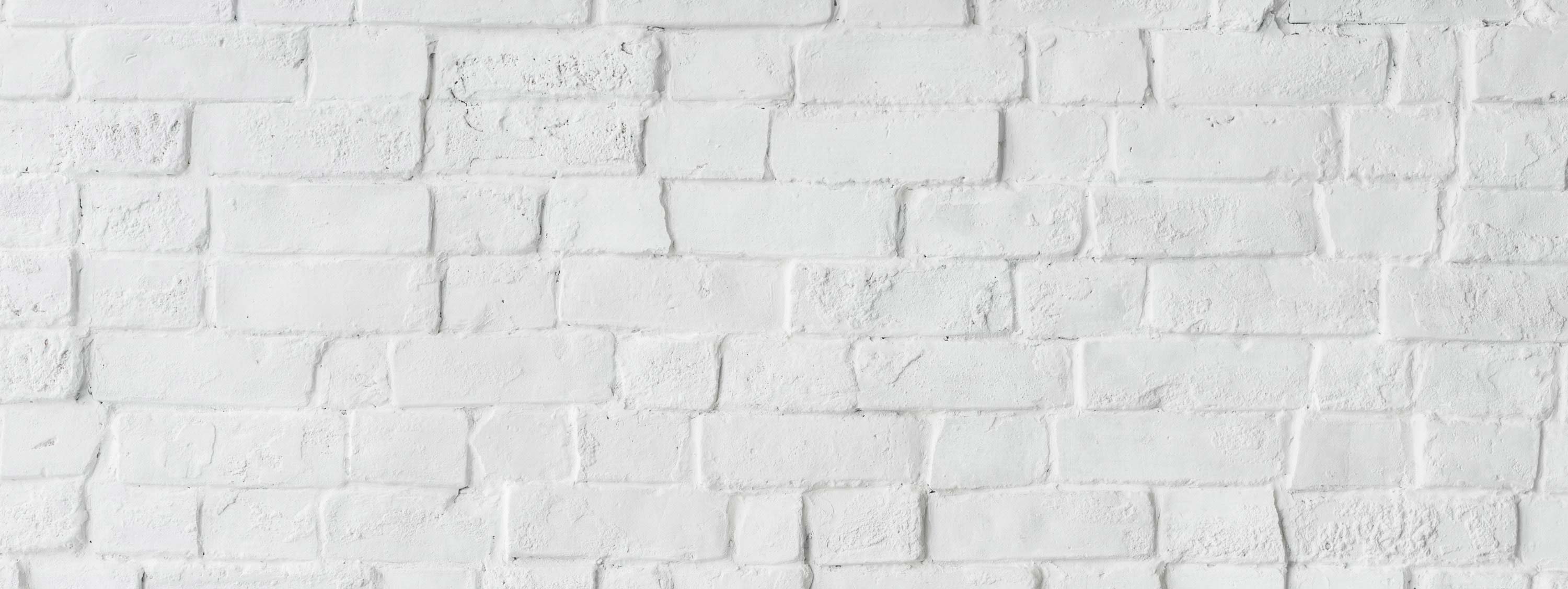 A plain, white brick background.