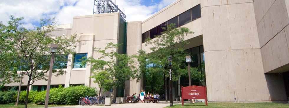 The exterior of Roger Guindon Hall, location of the University of Ottawa Faculty of Medicine.