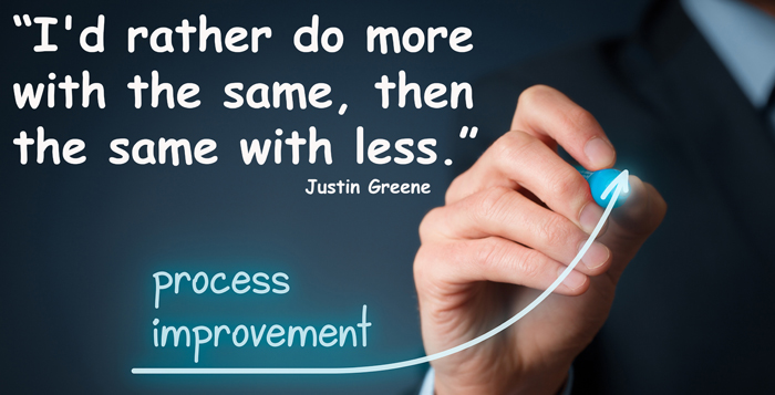 Justin Greene quote for process improvement