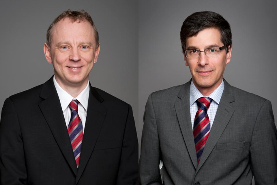 Photo de Dr Alain Stintzi et Dr Daniel Figeys.