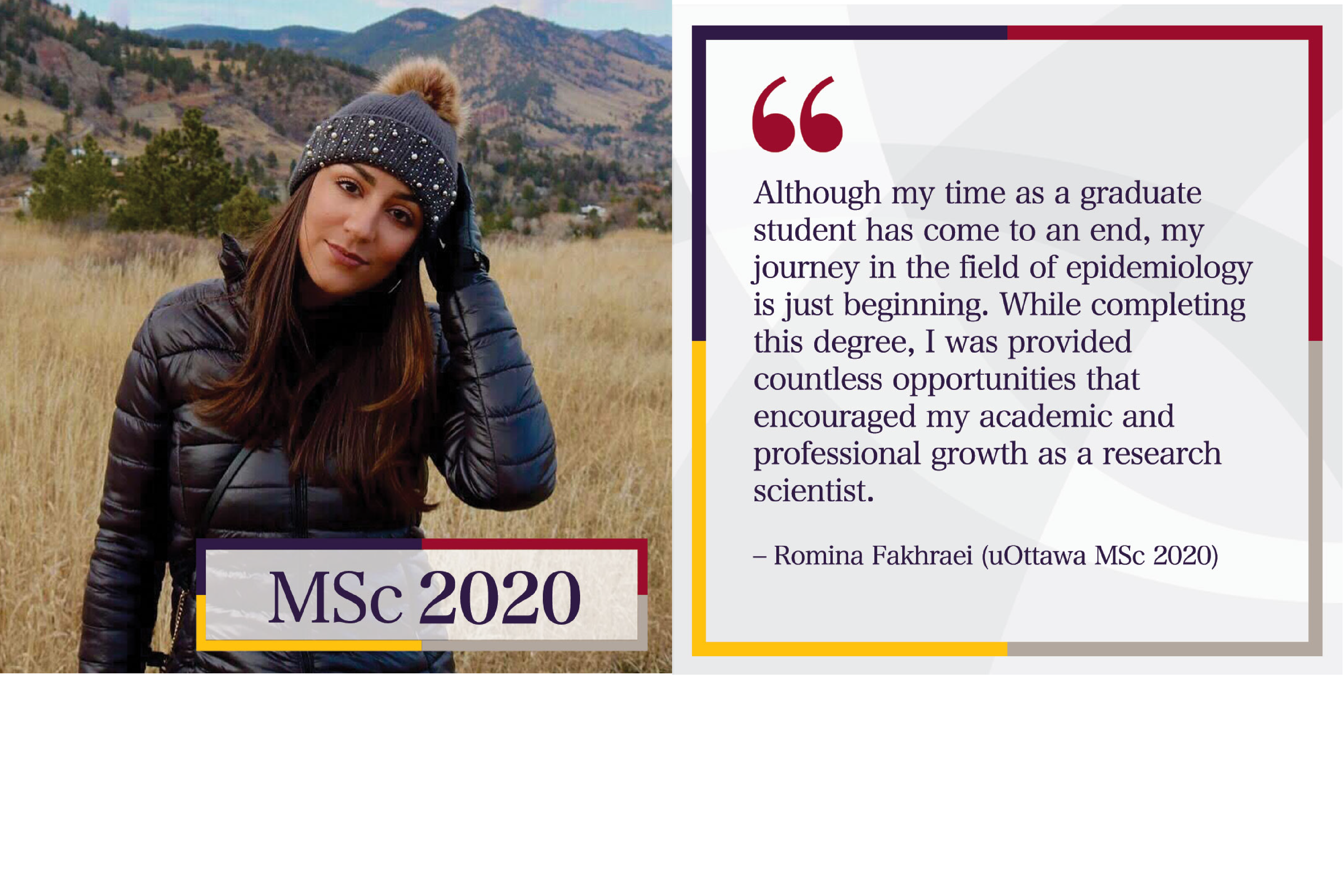 Photo of Romina Fakhraie with quote