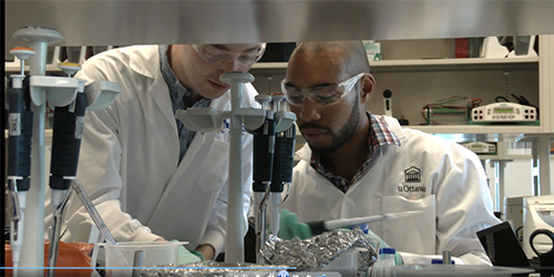 deux étudiants dans un laboratoire