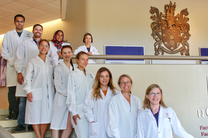 Photo of the members of the Mary-Ellen Harper lab.