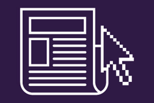 White paper and a cursor on a purple background