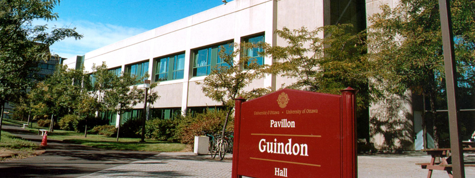 The exterior of Roger Guindon Hall.