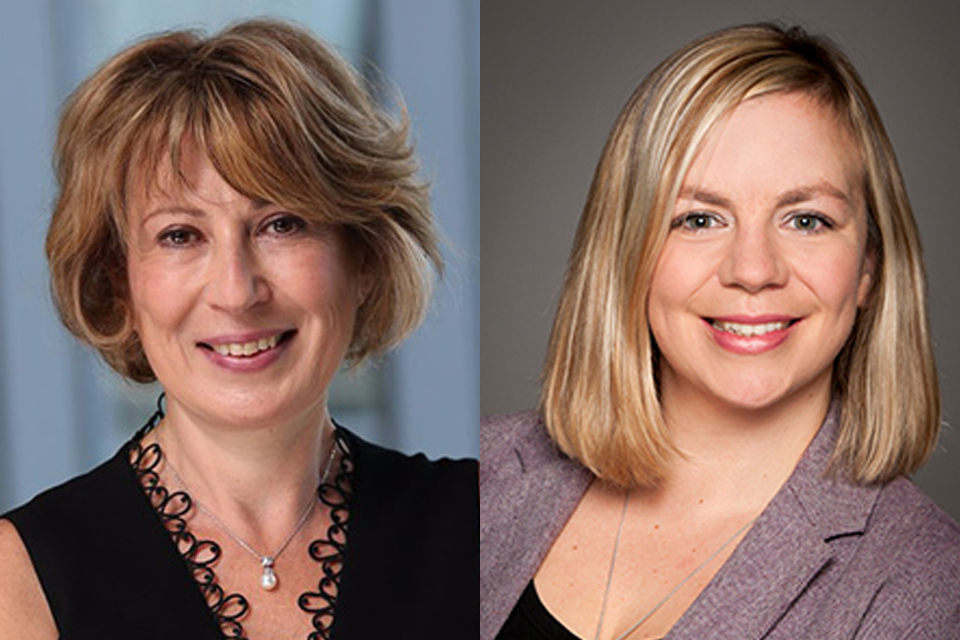 Photos of Dr. Mona Nemer and Dr. Katey Rayner.