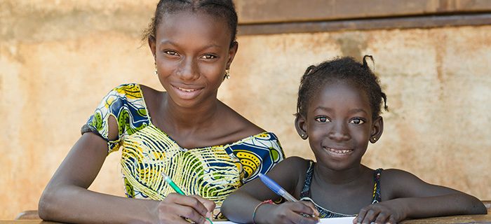 School For African Children - Children Smiling Whilst Learning